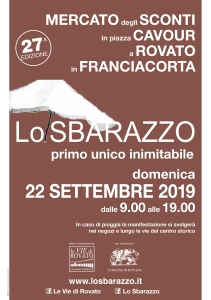 Lo Sbarazzo Rovato 2019 domenica 22 settembre 27 edizione