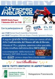rugby rovato trofeo neurone